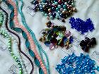 Huge All Glass Bead Lot 1lb Jewelry Making Strands Loose Pearls Czech Crafts I8