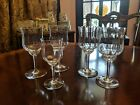 Baccarat Crystal Capri Optic Tall Water Goblets 7 1 8 or claret wine 6