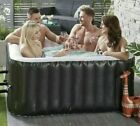 4 Person Square Black Hot Tub Jacuzzi Fast And Free Dispatch Or Collection