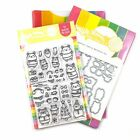 Waffle Flower HAMSTER FAMILY COMBO Clear Stamp  Matching Metal Die Set Winter