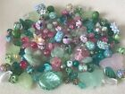 Job lot of mixed stunning lampworkCzechsemi preciouscrystals and glass beads