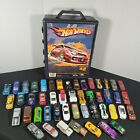 Mixed Lot of 48 164 Diecast Cars Vintage and New Hot Wheels Matchbox w Case