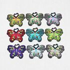 Multicolor 1 50pcs butterfly clothes patches iron on sew on embroidery DIY badge