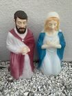 Vintage Nativity Blow Mold Set of Mary and Joseph Empire 32 Local Pickup Only