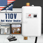 4000W Tankless Electric Instant Hot Water Heater Kitchen Bathroom Shower 110V US