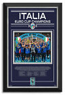 Italy Euro Cup 2020 Champions Archival Etched Glass Museum Shadowbox Frame