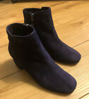 Gorgeous Alberto Fermani Purple Suede Boots EUC size 37 Worn only One Time
