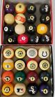 Brunswick Centennial Pool Balls Mixed Vintage Incomplete Pocket Used