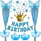 Birthday Party Decorations Blue Kits for Baby Boys Happy Birthday Foil Balloons