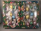 2 Old World Christmas 12 Pc Assorted Easter Egg Blown Glass Christmas Ornaments
