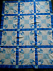 Tulips in Blue  quilt top new  45 x 58