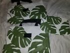 Trendy Aloha Collection Bags set Totes pouches set of 3 pieces New green white