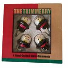 Vintage Y2K Snowman Christmas Tree Ornaments Handcrafted Glass Package of 4