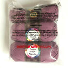 Lion Brand Lilac 24 7 Cotton Algodon Yarn Pack of 3 skeins 1 partially used