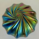 Vintage Levay Studio Signed Iridescent Favrile Blown Art Glass Paperweight