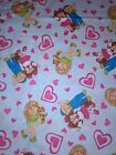 Cabbage Patch Kids Fabric Material Hearts Baby Doll Craft 2 Yards Quilt Mask