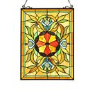 ADELIA Tiffany Style Victorian Stained Glass Window Panel 24 Height Hand Craft