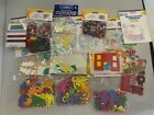 Scrapbooking Lot Of 18 Packs With Hundreds Of Pieces Stickers  Ribbons New