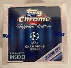 2020-21 TOPPS CHROME SAPPHIRE UEFA CHAMPIONS SOCCER FACTORY SEALED HOBBY BOX RC