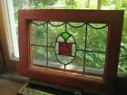 Victorian LEADED STAINED GLASS WINDOW nice design 18 x 14