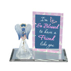 Glass Baron Handcrafted Angel Butterfly Figurine Accented with Swarovski Crystal