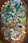 Antique Vintage Crafters Bead Lot Glass Natural Stone Millefiore Lampwork