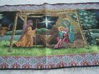 First Christmas HOLY FAMILY Nativity Story TAPESTRY TABLE RUNNER MWW 13 x 72