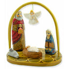 Nativity Set Russian Hand Carved Hand Painted Wooden Nativity of Christ Scene