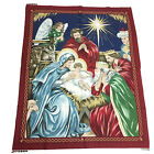 VIP CRANSTON Early Enchantments Fabric Panel Christmas Nativity Wall Quilt Top