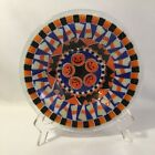 Peggy Karr Halloween Trick Or Treat Bowl Fused Glass 8 3 8 Inches Diameter