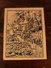 PSX K2274 English Country Cottage Country Garden Flowers Rubber Stamp Wood Mount