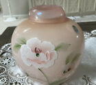 Fenton Hand Painted Glass Messenger Exclusive Ginger Jar Limited W orig Label