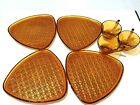 Vintage Anchor Hocking Amber Daisy and Button Triangle Snack Plate and Cup Sets
