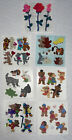Sandylion Stickers Bears  Fuzzy  Pearl Mods 7 squares VINTAGE