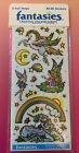 Vintage 80s Stickers illuminations Fantasies Rare Sealed Package 2 Sheets 1983