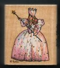 GLINDA GOOD WITCH of NORTH WIZARD OF OZ Character ALL NIGHT MEDIA Rubber Stamp