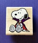 NEW STAMPABILITIES Spooky Snoopy Peanuts HALLOWEEN Rubber Stamp Vampire HTF RARE