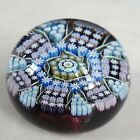 Perthshire Millefiori 1981 Glass Paperweight Radial Twist Canes  Panels RARE