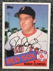 ROGER CLEMENS SIGNED TOPPS BASEBALL RED SOX TRADING CARD #181 AUTOGRAPH JSA