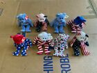 8x LOT of TY Beanie Baby Babies Collection Spangle, America, Liberty, Red White