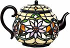 Stained Glass Teapot Accent Lamp Tiffany Style Tea Pot Kettle hand made original