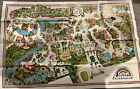 Vtg 1980 Six Flags Great Adventure New Jersey NJ Entire Park Map