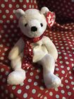 Ty Beanie Baby 2000 Holiday Teddy Christmas Bear, White. Imperfect Tags.