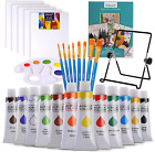 Art Paint Set for Kids Painting Supplies Kit Canvas Brushes Acrylic Paints Easel
