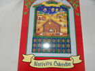 Wooden Nativity Advent Calendar by Family Christian Stores NEW in Box