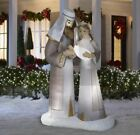 65 HOLY FAMILY NATIVITY Airblown Lighted Yard Inflatable