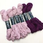 Tahki Yarns Cotton Classic 6 Skein Lot Light Lilac 3938 Deep Red Violet 3913 New