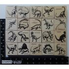 Rubber Stamps FOAM MOUNTED WOOD IMAGE LOT 20 DINOSAURS PREHISTORIC ANIMALS 2444