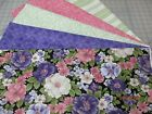 Awesome Purple Pink  White Flowers 5 Yd Quilt Kit Fabric  Patt