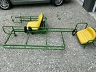 Med Bed Rescue Skid with provider CPR seats for John Deere Gator